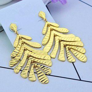 Kate Spade Gold|plated Palm Tree Leaf Earrings